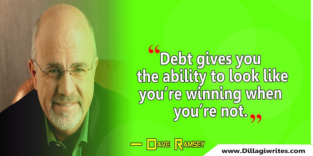 dave ramsey debt quotes