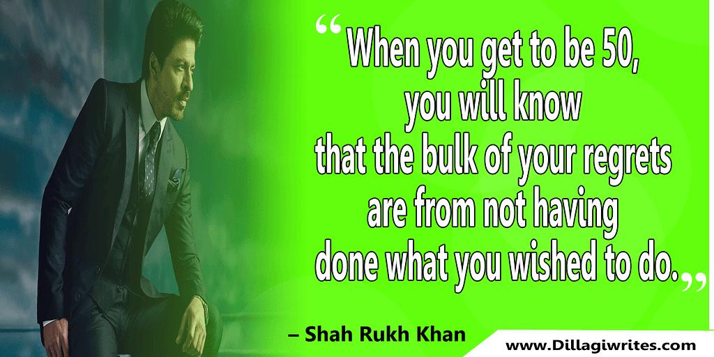 shahrukh khan quotes 17 Shahrukh Khan Quotes and Dialogues  King Khan