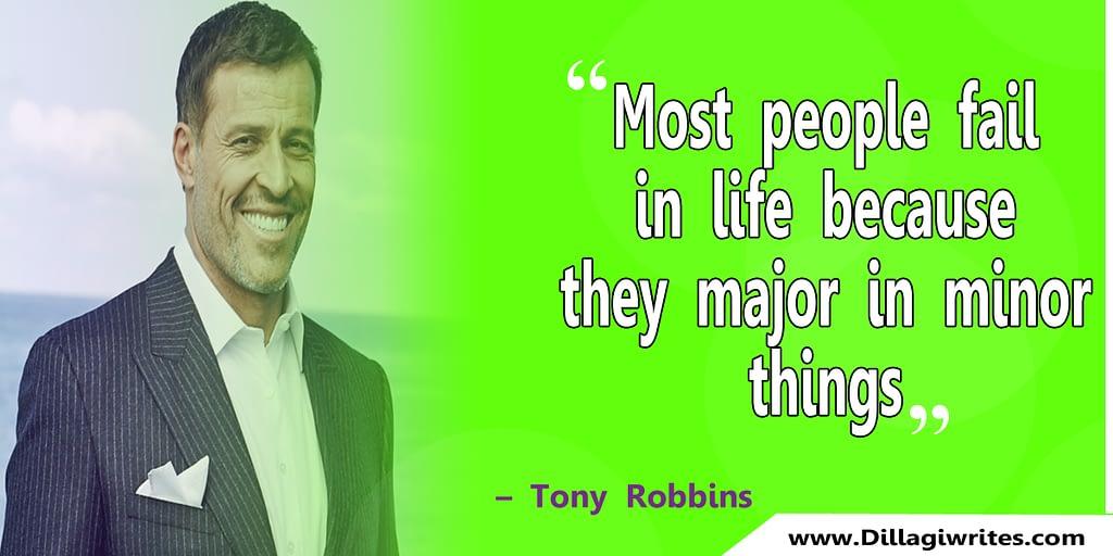 tony robbins decision quote