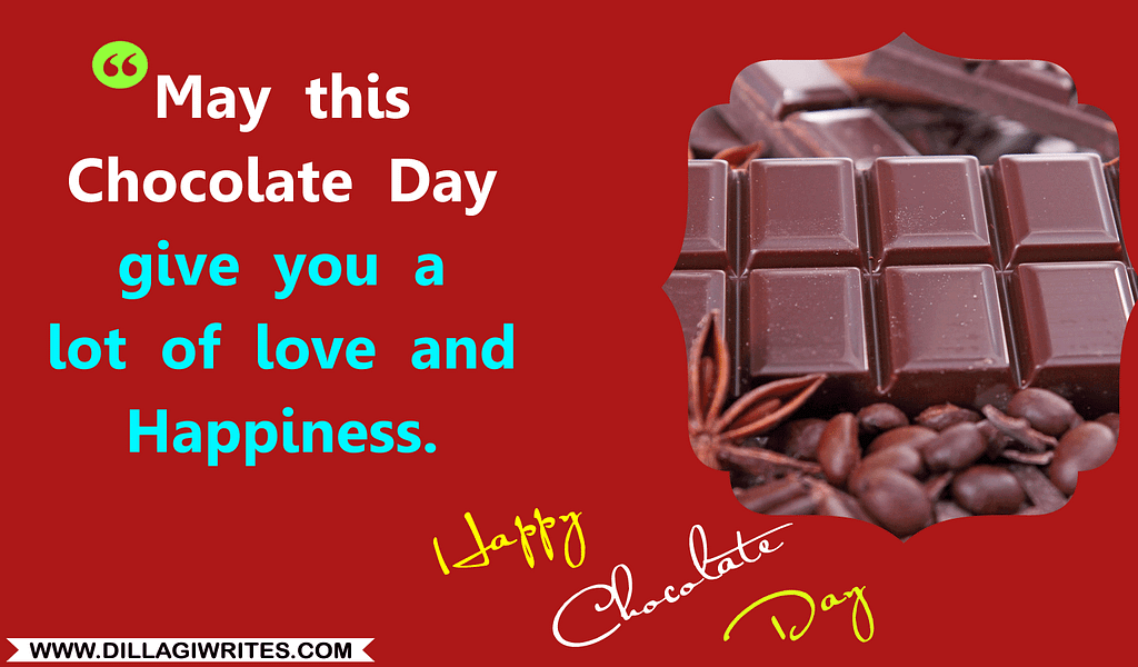 chocolate with message of love