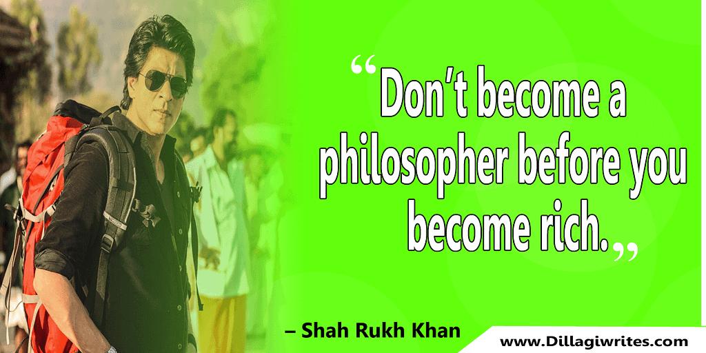 shahrukh khan quotes 21 Shahrukh Khan Quotes and Dialogues  King Khan