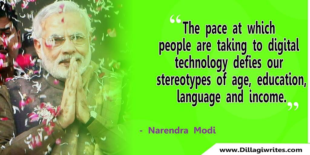 quotes on modi government