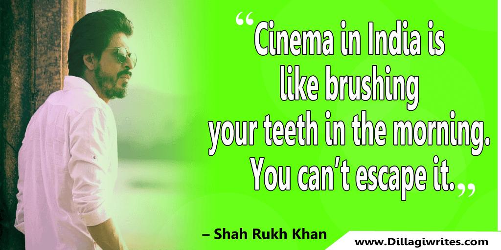 shahrukh khan quotes 10 Shahrukh Khan Quotes and Dialogues  King Khan