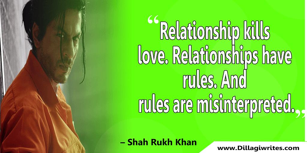 shahrukh khan quotes 3 Shahrukh Khan Quotes and Dialogues  King Khan