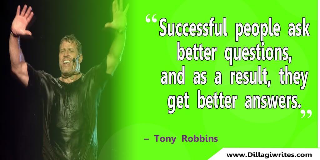 tony robbins expectation quote