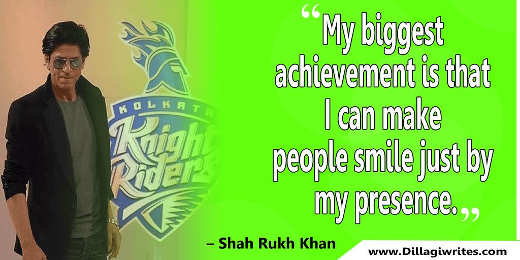 shahrukh khan quotes 12 Shahrukh Khan Quotes and Dialogues  King Khan
