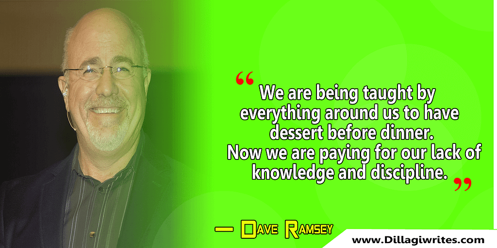 dave ramsey quote live like