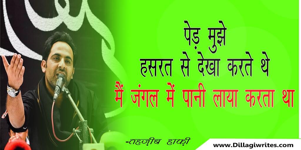 tehzeeb hafi poetry hindi