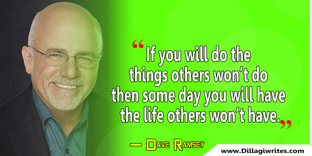 dave ramsey quote of the day