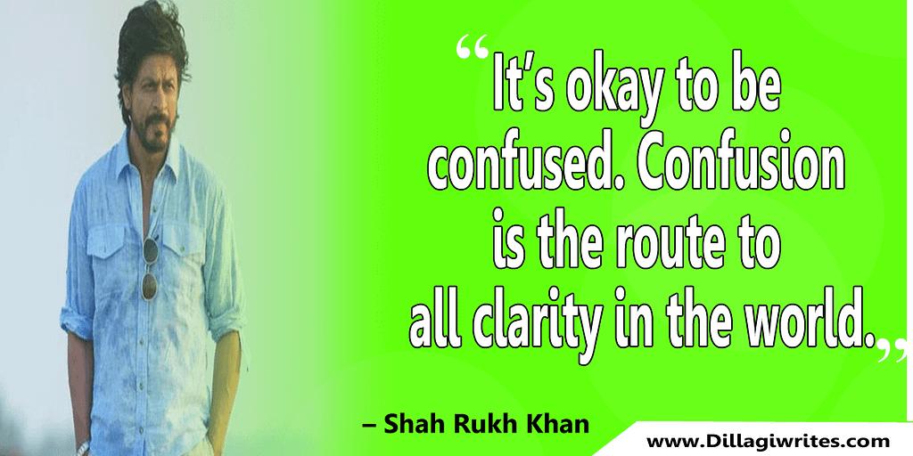 shahrukh khan quotes 8 Shahrukh Khan Quotes and Dialogues  King Khan