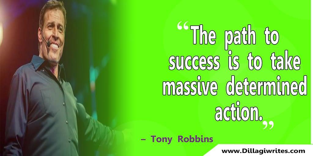 tony robbins quote on change