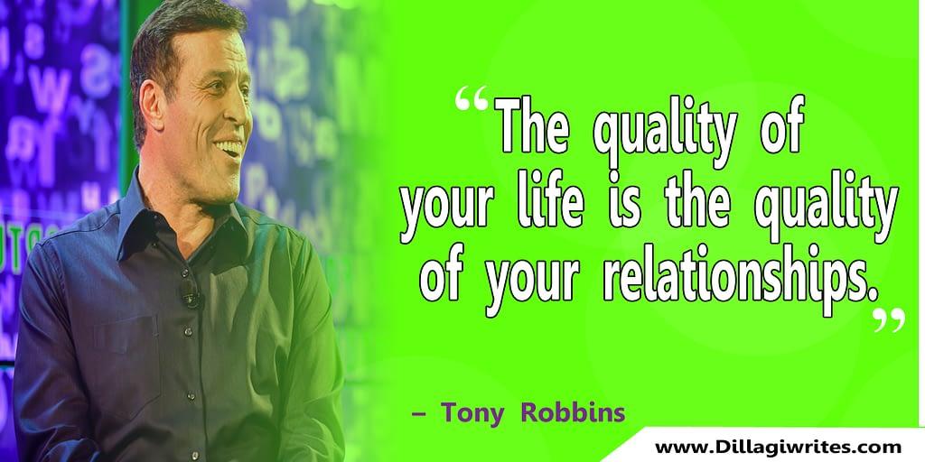 tony robbins progress quote