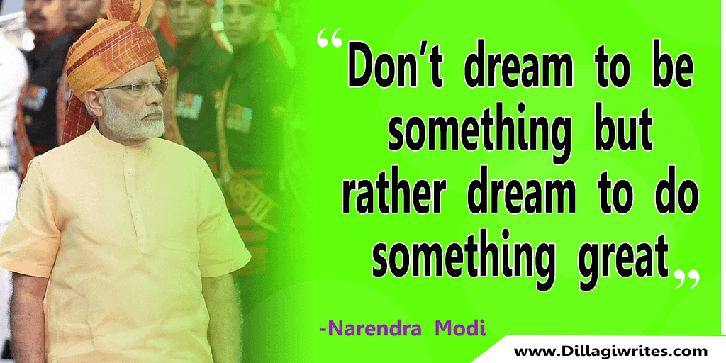modi image with quotes