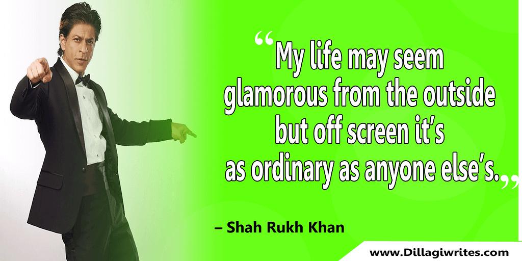 shahrukh khan quotes 6 Shahrukh Khan Quotes and Dialogues  King Khan