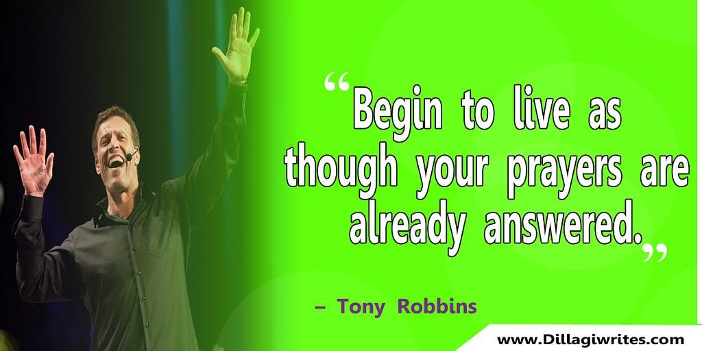 tony robbins gratitude quote