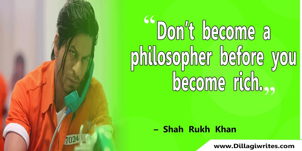 shahrukh khan quotes 13 Shahrukh Khan Quotes and Dialogues  King Khan