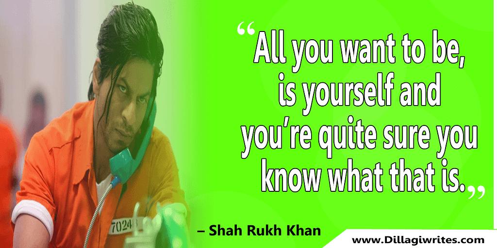 shahrukh khan quotes 2 Shahrukh Khan Quotes and Dialogues  King Khan