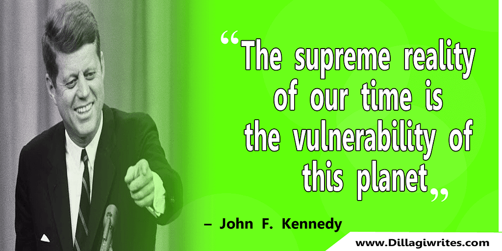 john f kennedy science quotes