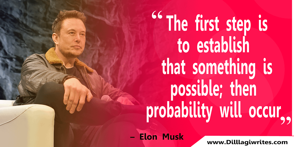 Elon Musk Image Whit Quotes