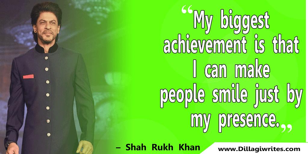 shahrukh khan quotes 7 Shahrukh Khan Quotes and Dialogues  King Khan